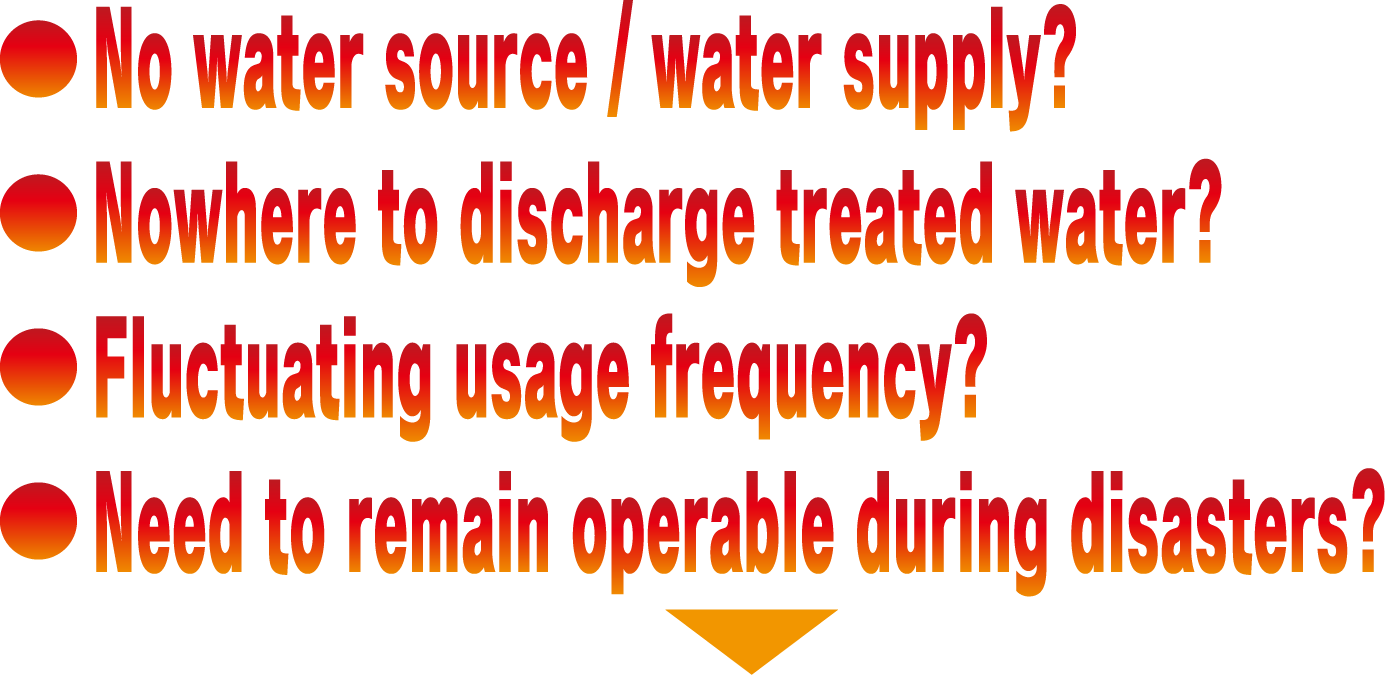 No water source / water supply? →